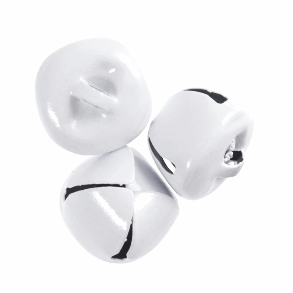Picture of Bells: Jingle: 20mm: White: 3 Pieces
