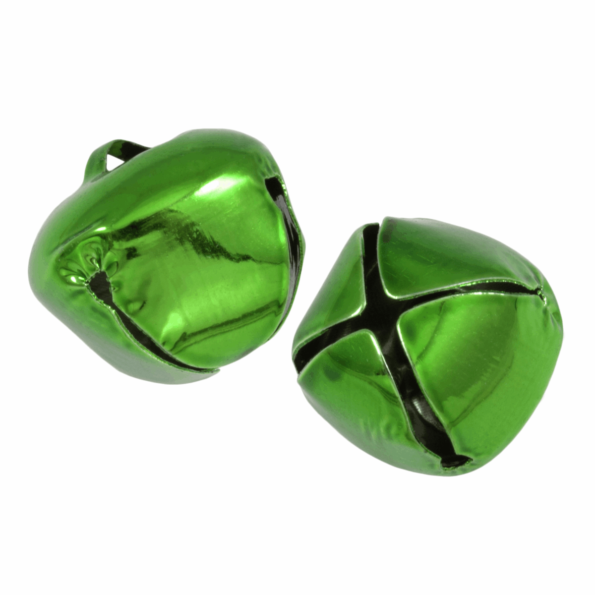 Picture of Bells: Jingle: 30mm: Green: 2 Pieces