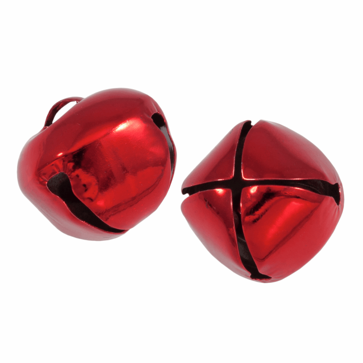 Picture of Bells: Jingle: 30mm: Red: 2 Pieces