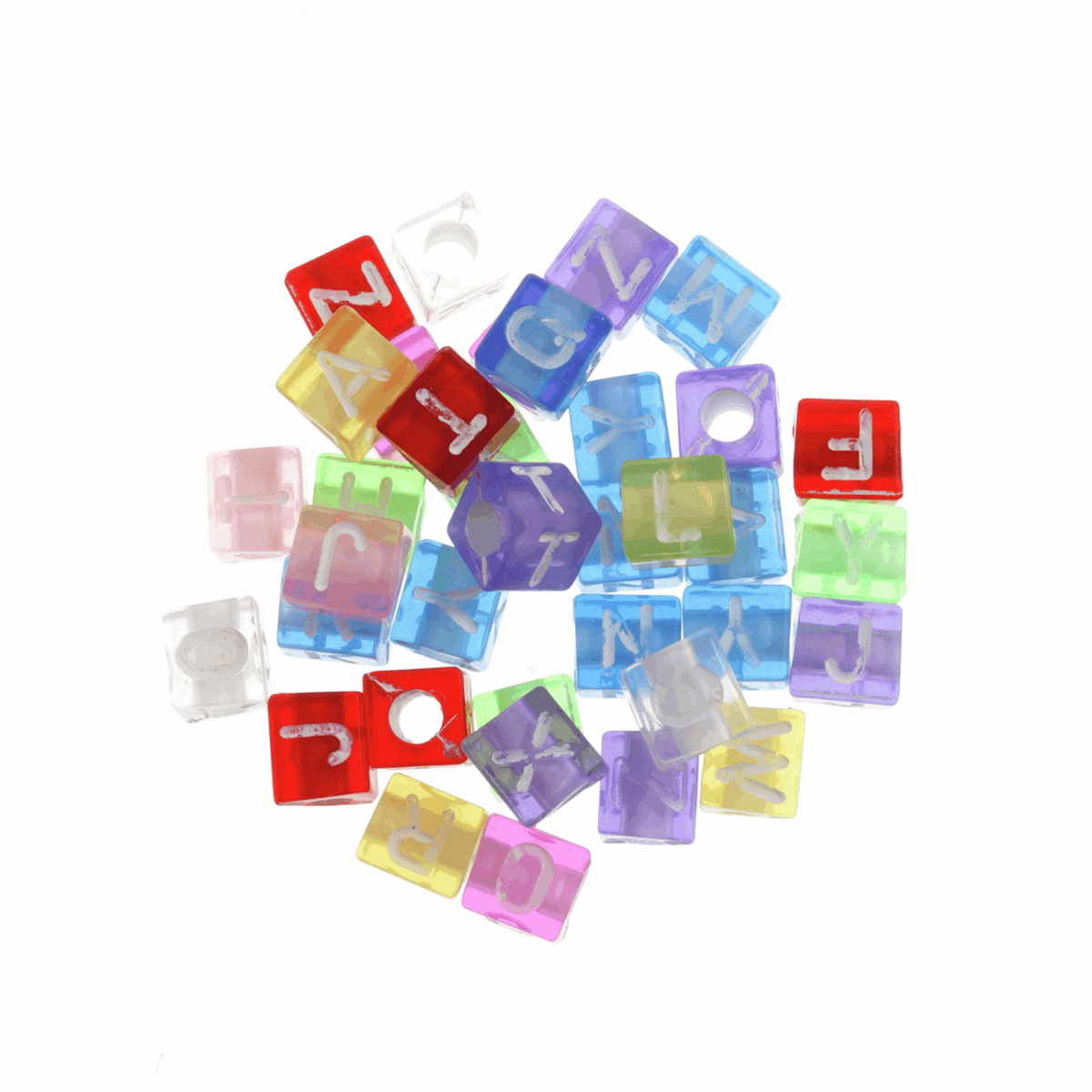 Picture of Beads: Alphabet: Transparent: Pack of 100