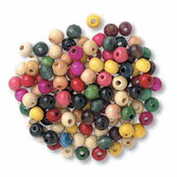 Picture of Wood Beads 8mm Assorted: 10 Packs of 150