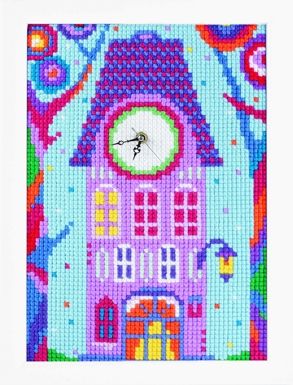 Picture of Cross Stitch Kit: Clockwork: Home where Fairies Live