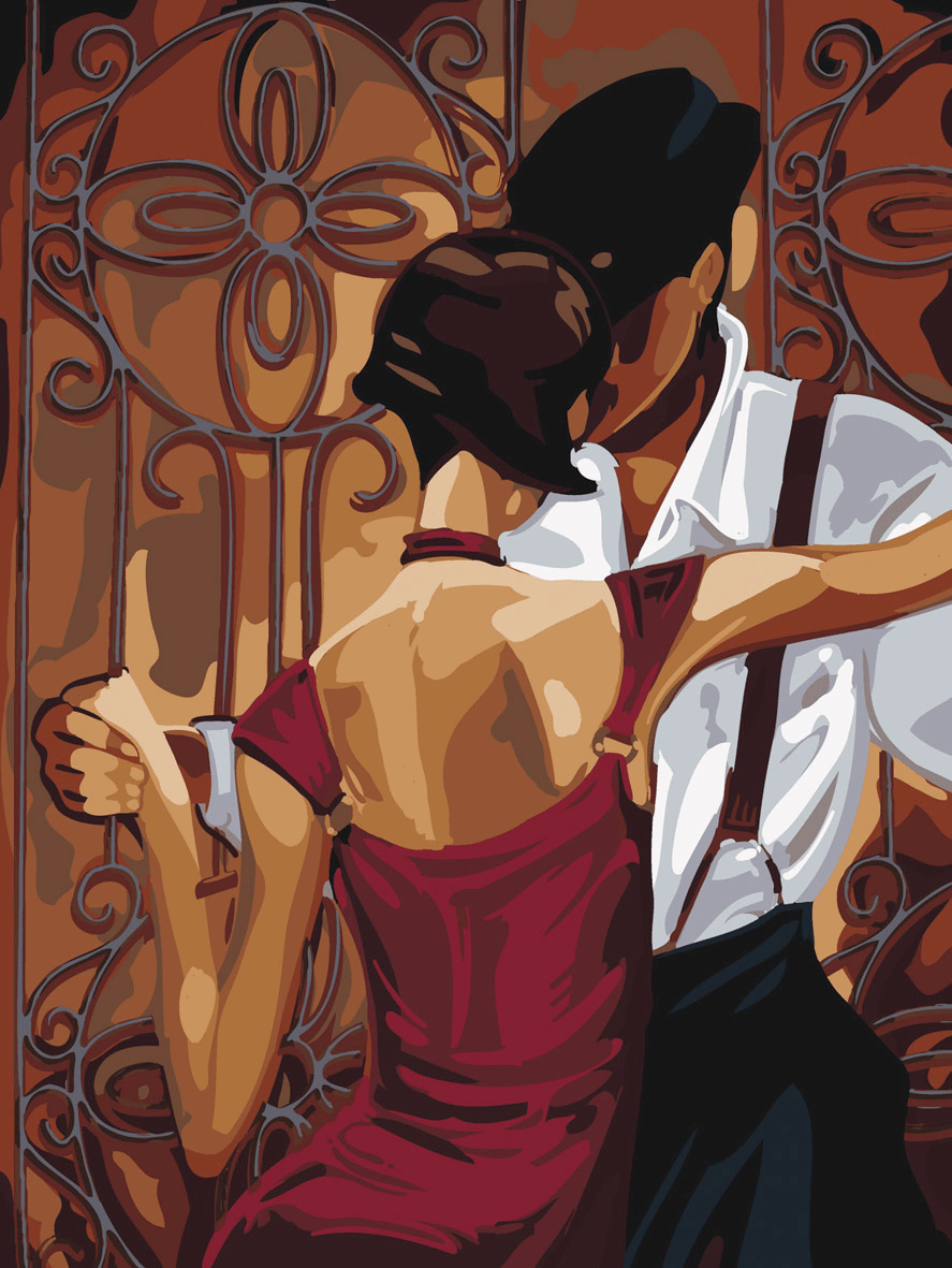 Picture of Printed Tapestry Canvas: Tango, (Trish Biddle)