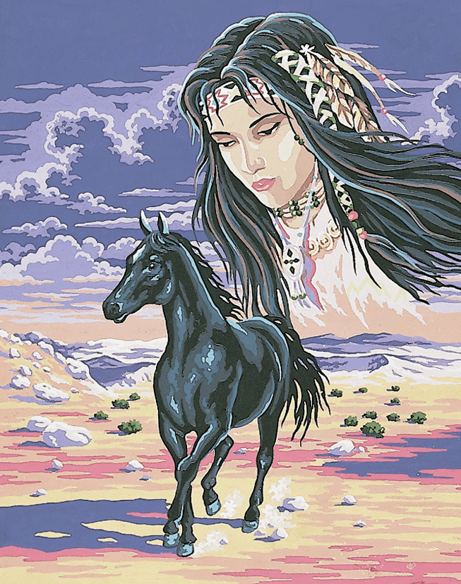 Picture of Printed Tapestry Canvas: Indian Spirit