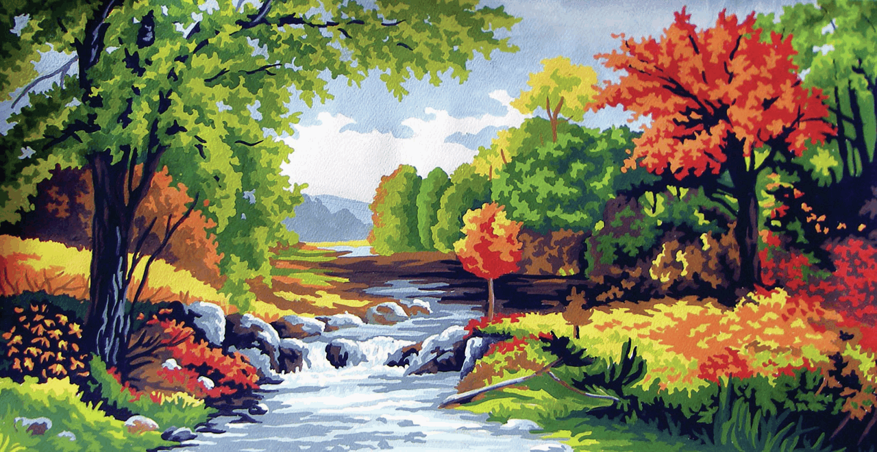 Picture of Printed Tapestry Canvas: Autumn Time