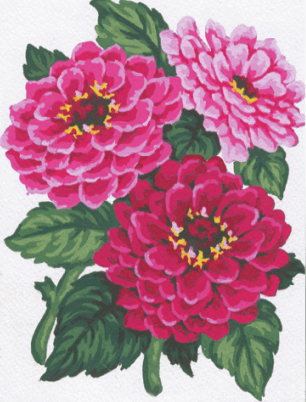 Picture of Tapestry Kit: Zinnias