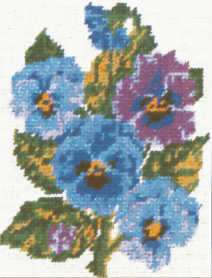 Picture of Tapestry Kit: Pansies