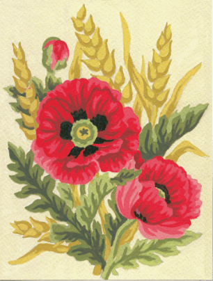 Picture of Tapestry Kit: Poppies and Wheat
