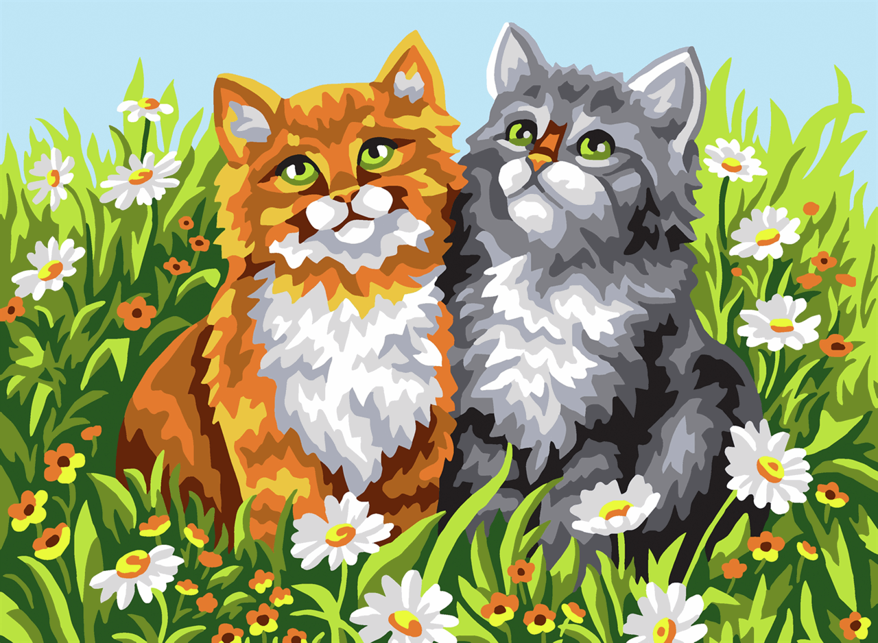Picture of Printed Tapestry Canvas: Two Kittens