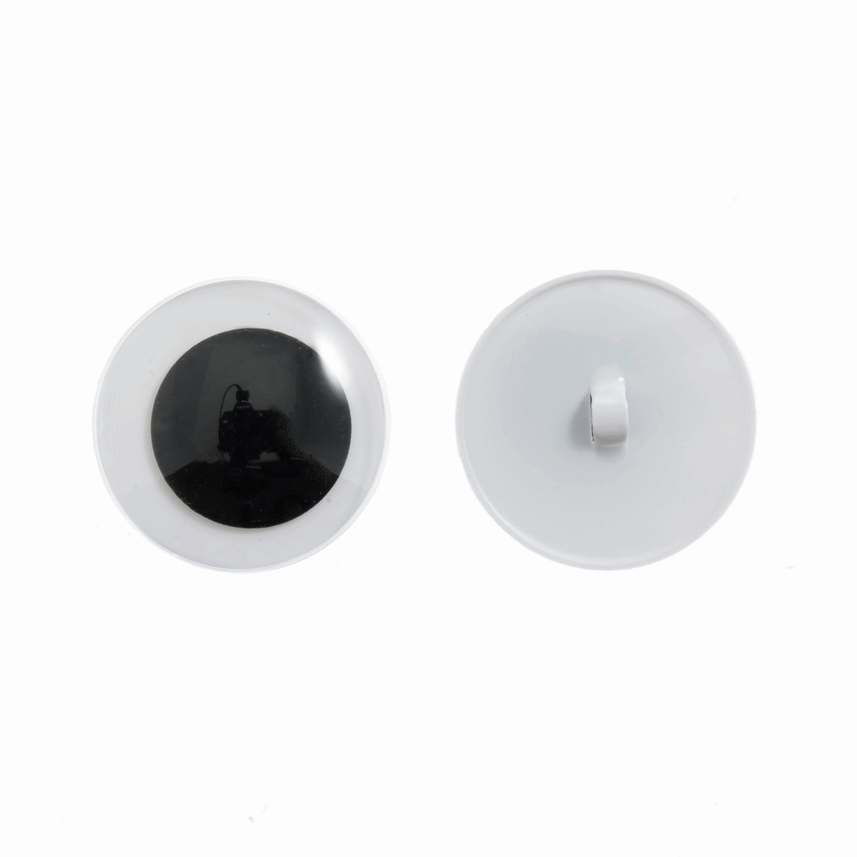 Picture of Toy Eyes: Sew-On Googly: 12mm: Black