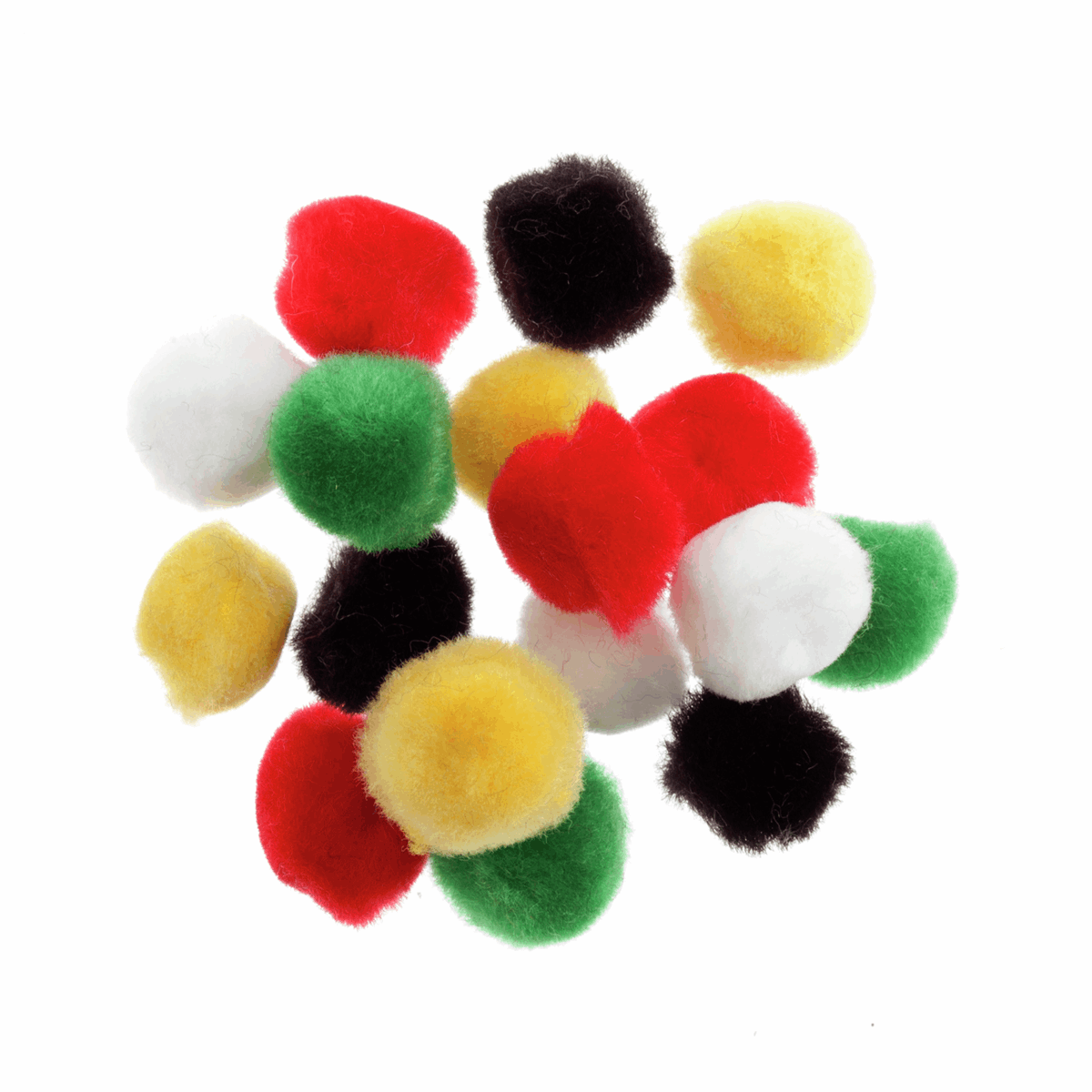 Picture of Pom Poms: 1.3cm (1/2in): Assorted