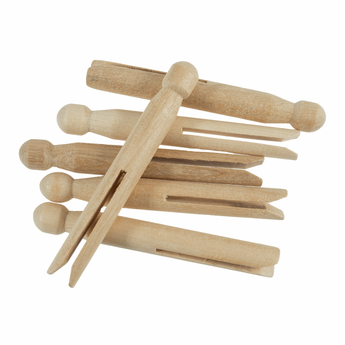 Picture of Pegs: Wooden: Dolly: Pack of 6