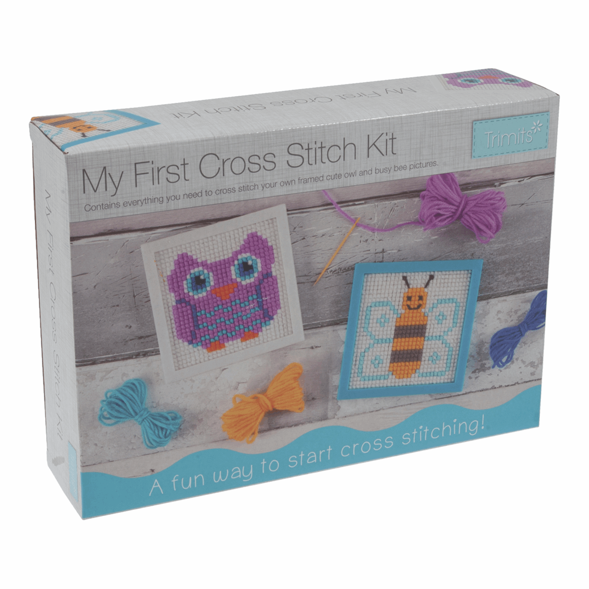 Picture of My First Cross Stitch Kit: Owl & Bee Designs