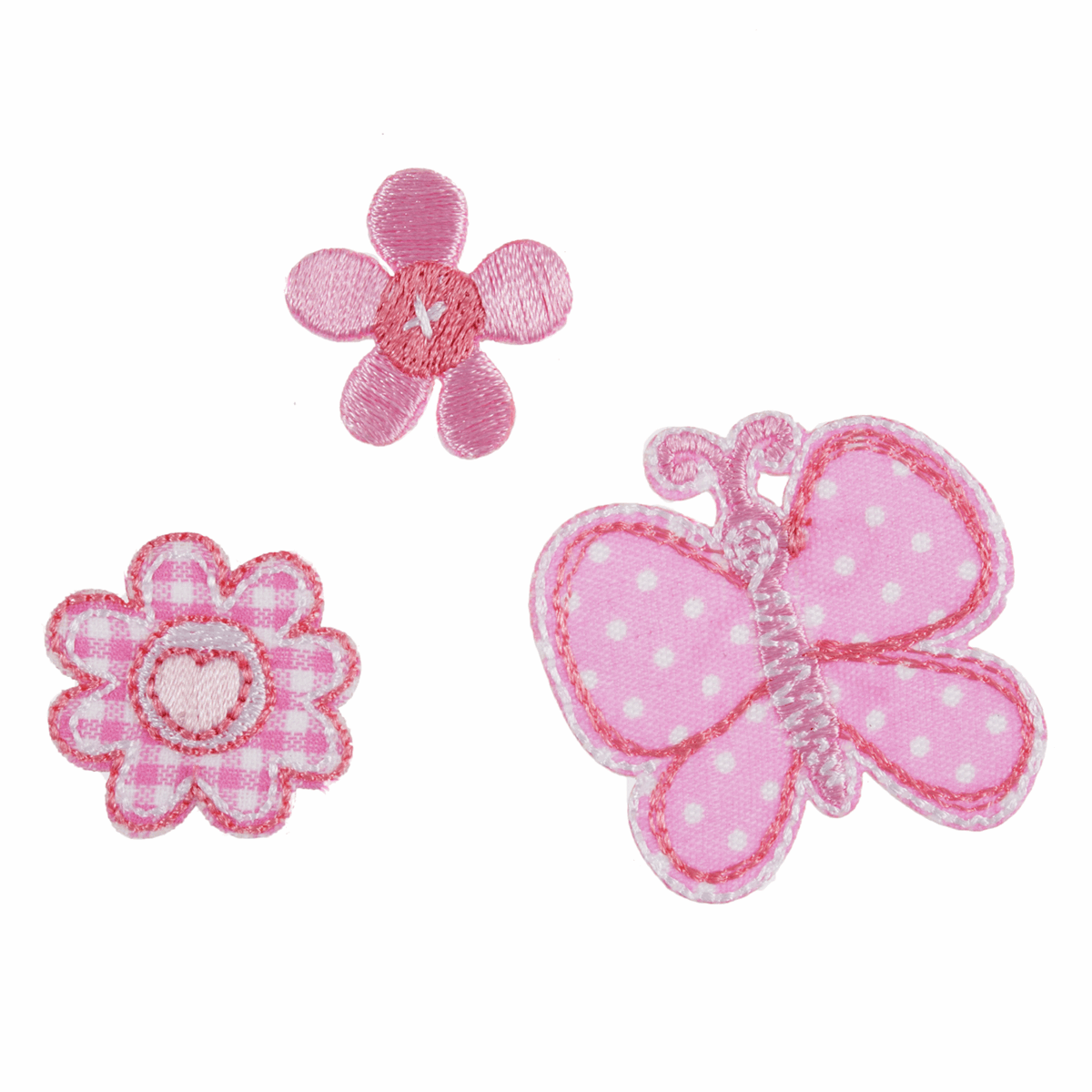 Picture of Motif C: Pink Butterfly and Flowers