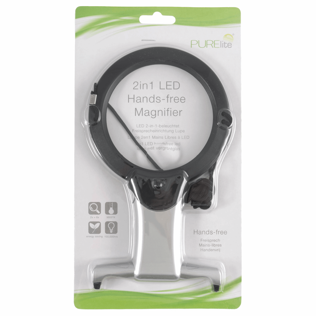 Picture of Magnifier: Illuminated: Hands-Free: 2-in-1: LED
