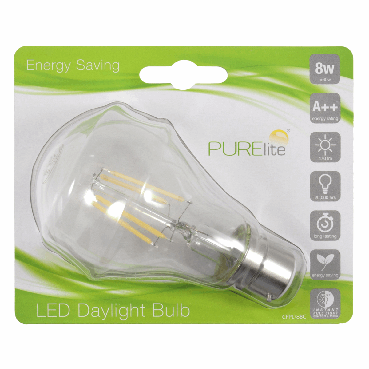 Picture of Bulb: Natural Daylight: 8w: Bayonet Fitting: LED