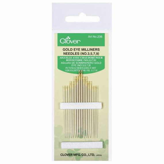 Picture of Hand Sewing Needles: Milliners: Gold Eye: No.3-9 (12)
