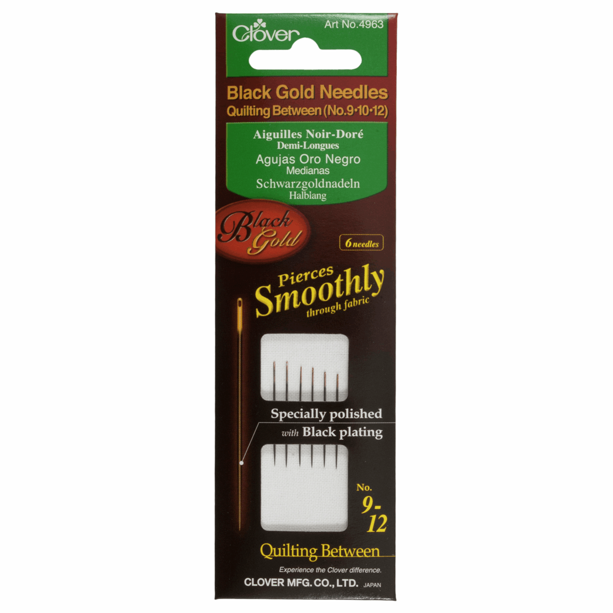Picture of Hand Sewing Needles: Quilting/Betweens: Black Gold: Asstd. (3)