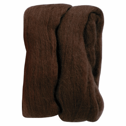 Picture of Natural Wool Roving: Brown: 20g: (3)