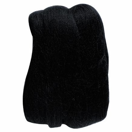 Picture of Natural Wool Roving: Black: 20g: (3)