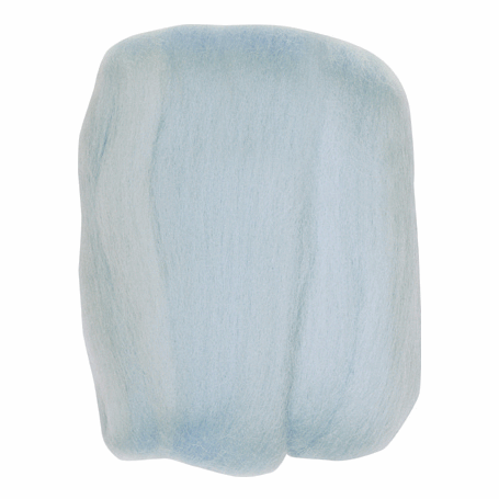 Picture of Natural Wool Roving: Light Blue: 20g: (3)
