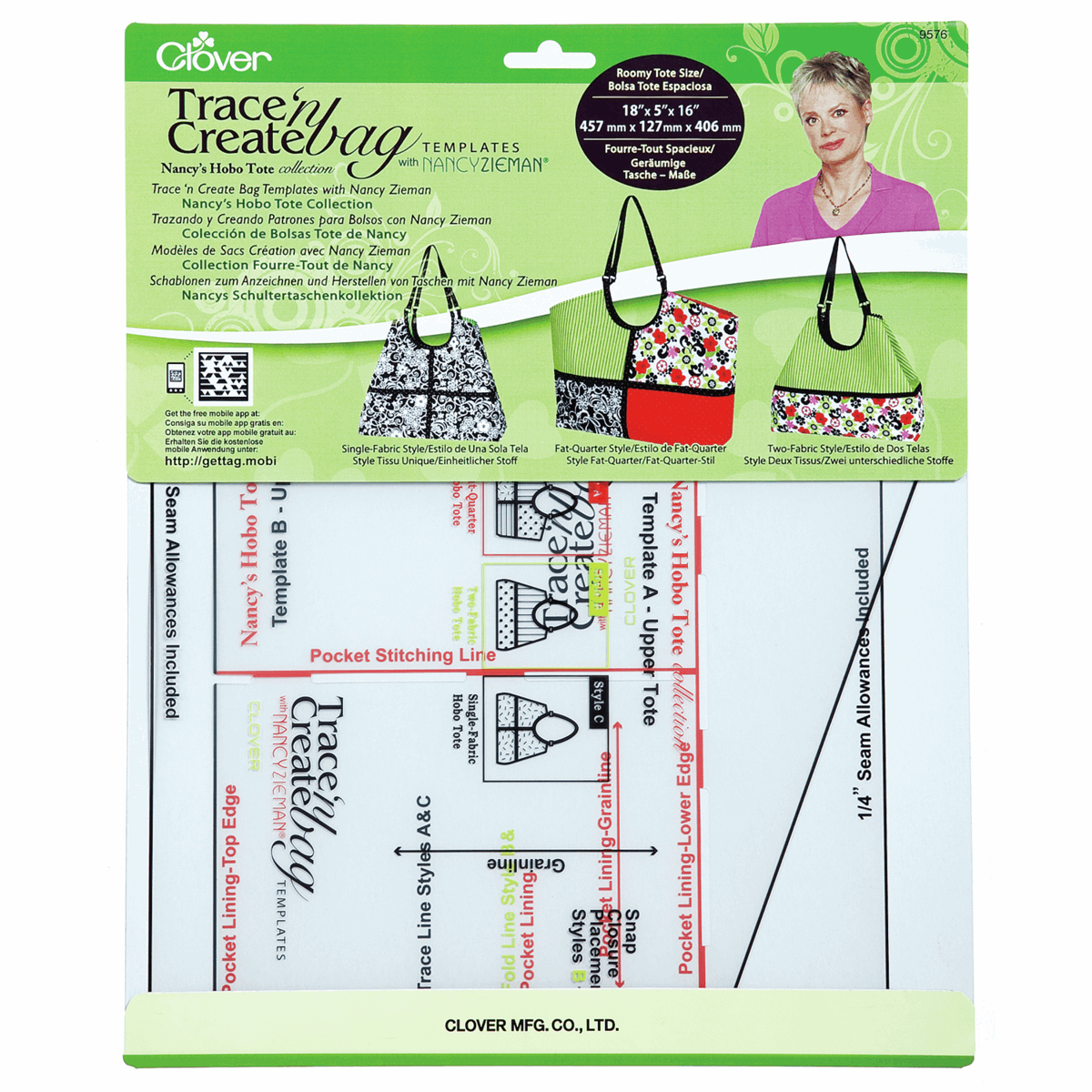 Picture of Bag Template: Trace n Create: Hobo Tote (3)