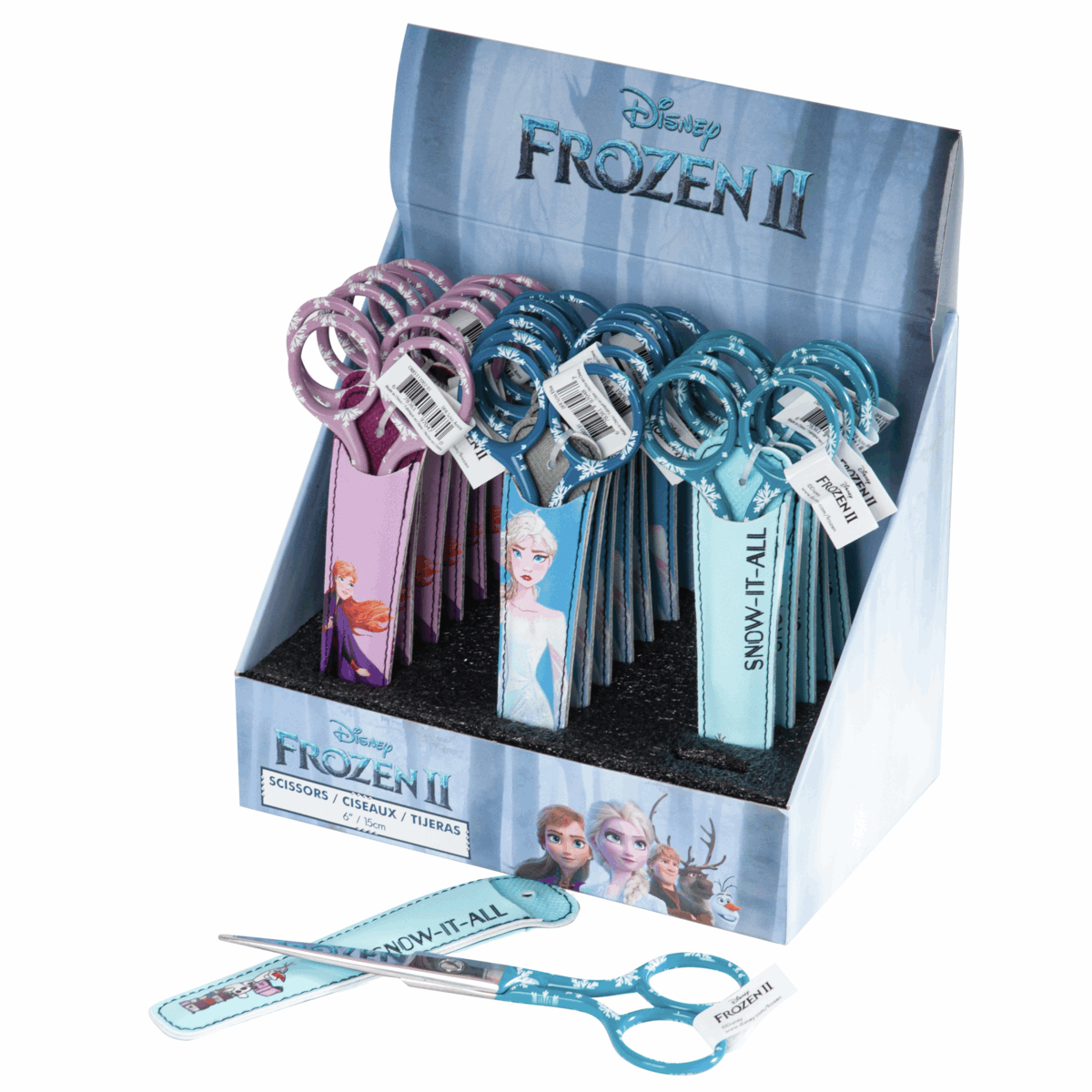 Picture of Counter Display Unit: Scissors with Cover: Frozen: 6in: 18 Pieces