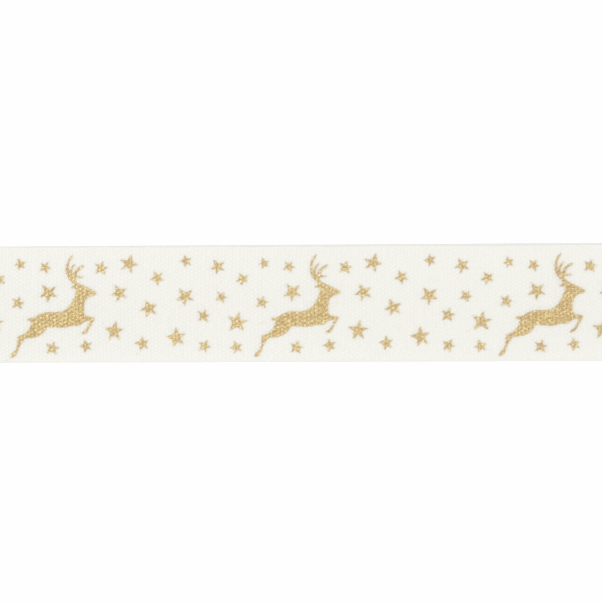 Picture of Bowtique Christmas: Metallic Reindeer: Gold: 25m x 15mm