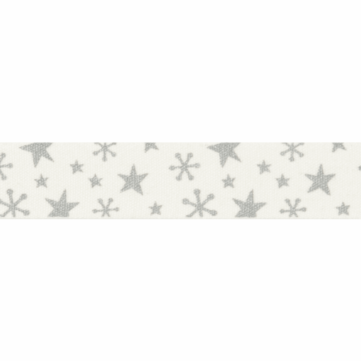 Picture of Bowtique Christmas: Metallic Stars: Silver: 25m x 15mm