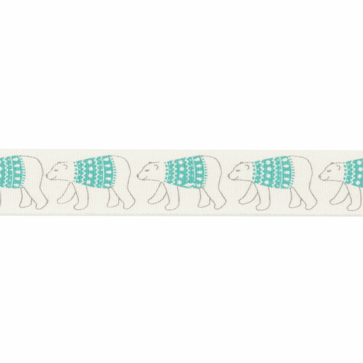 Picture of Bowtique Christmas: Christmas Polar Bear: 25m x 15mm
