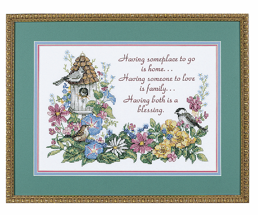 Picture of Stamped Cross Stitch: Flowery Verse