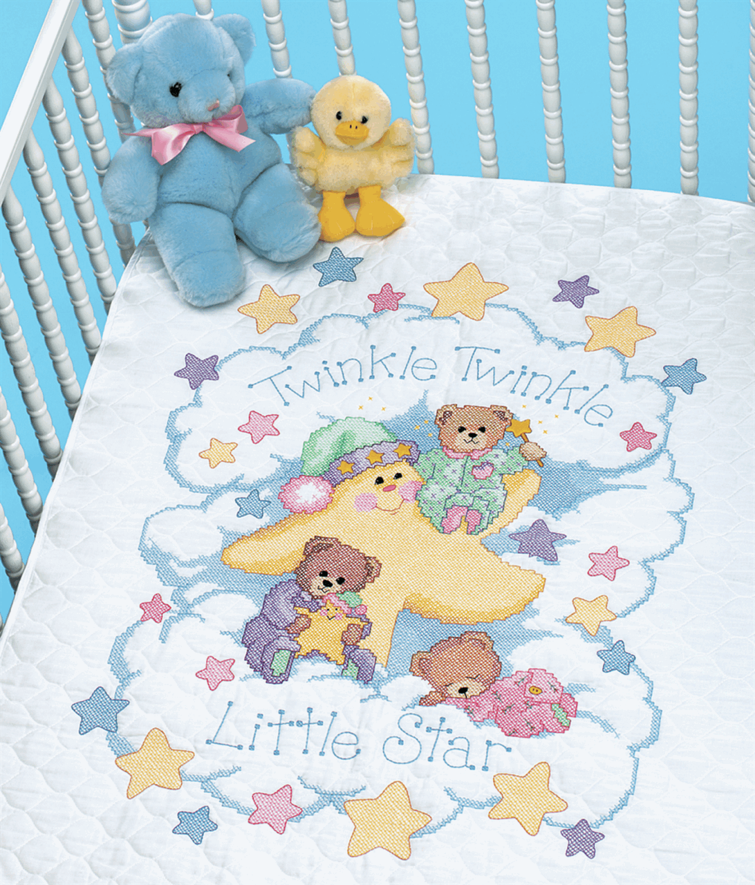 Picture of Stamped Cross Stitch: Quilt: Twinkle Twinkle