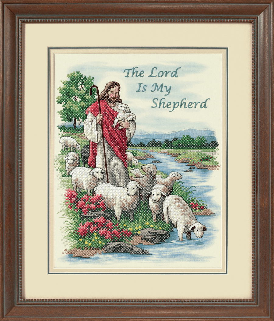 Picture of Stamped Cross Stitch: The Lord is My Shepherd