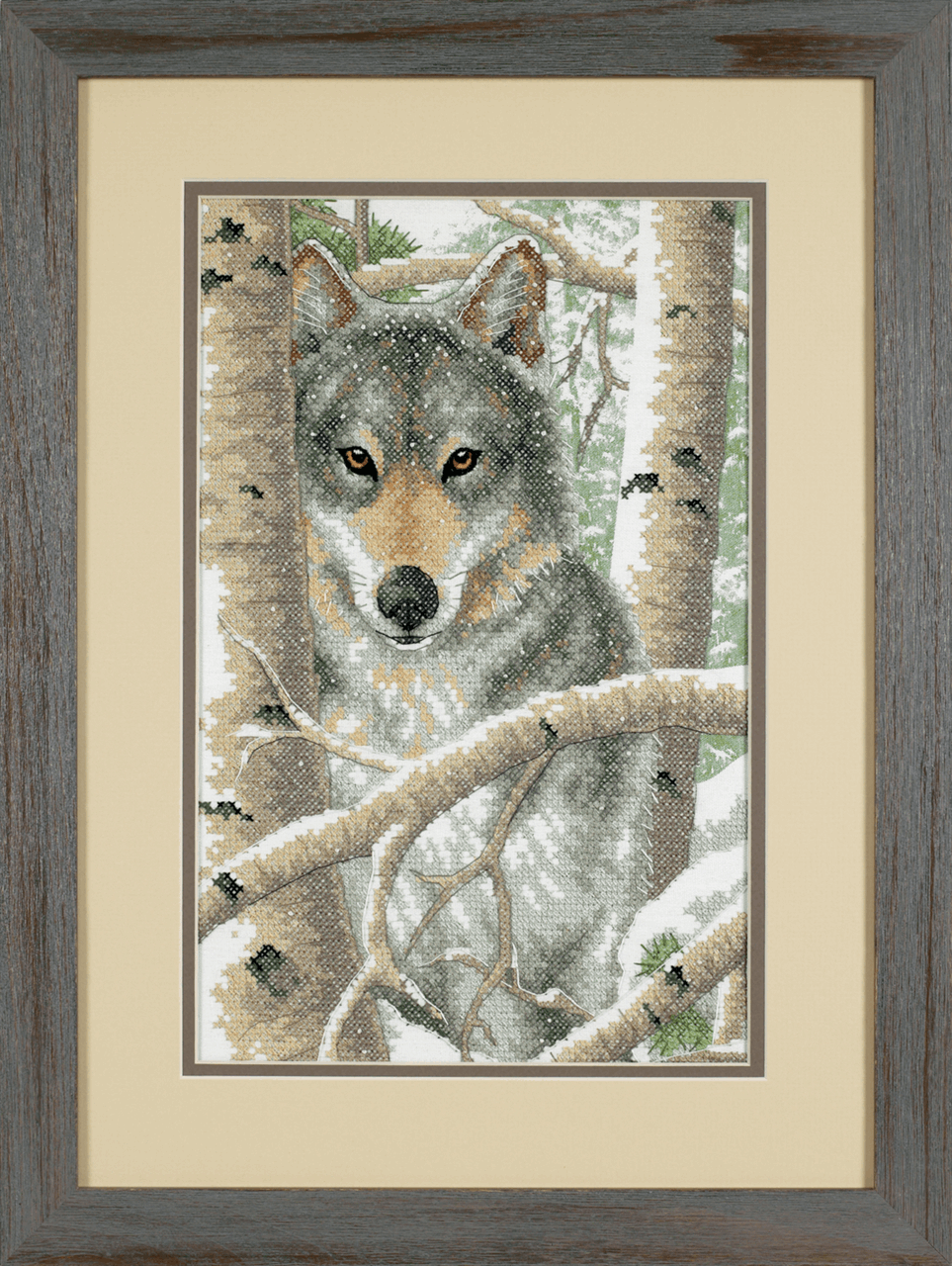 Picture of Stamped Cross Stitch: Wintry Wolf