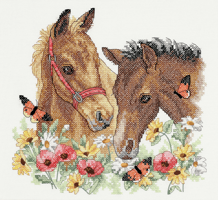 Picture of Stamped Cross Stitch: Horse Friends