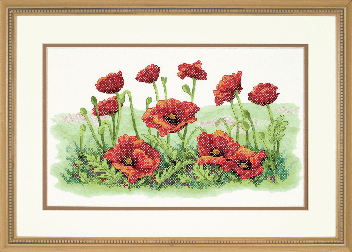 Picture of Stamped Cross Stitch: Field of Poppies