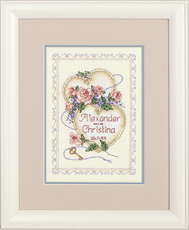 Picture of Mini Counted X Stitch: Wed/Rec: United Hearts