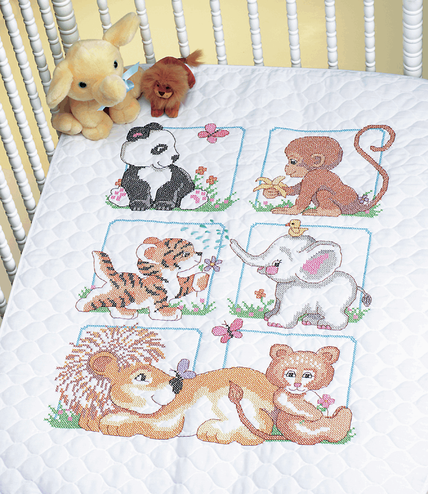 Picture of Stamped Cross Stitch: Quilt: Animal Babes