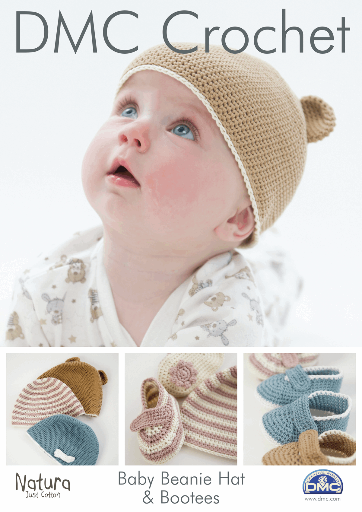 Picture of DMC Crochet Pattern: Baby Beanie Hat & Bootees