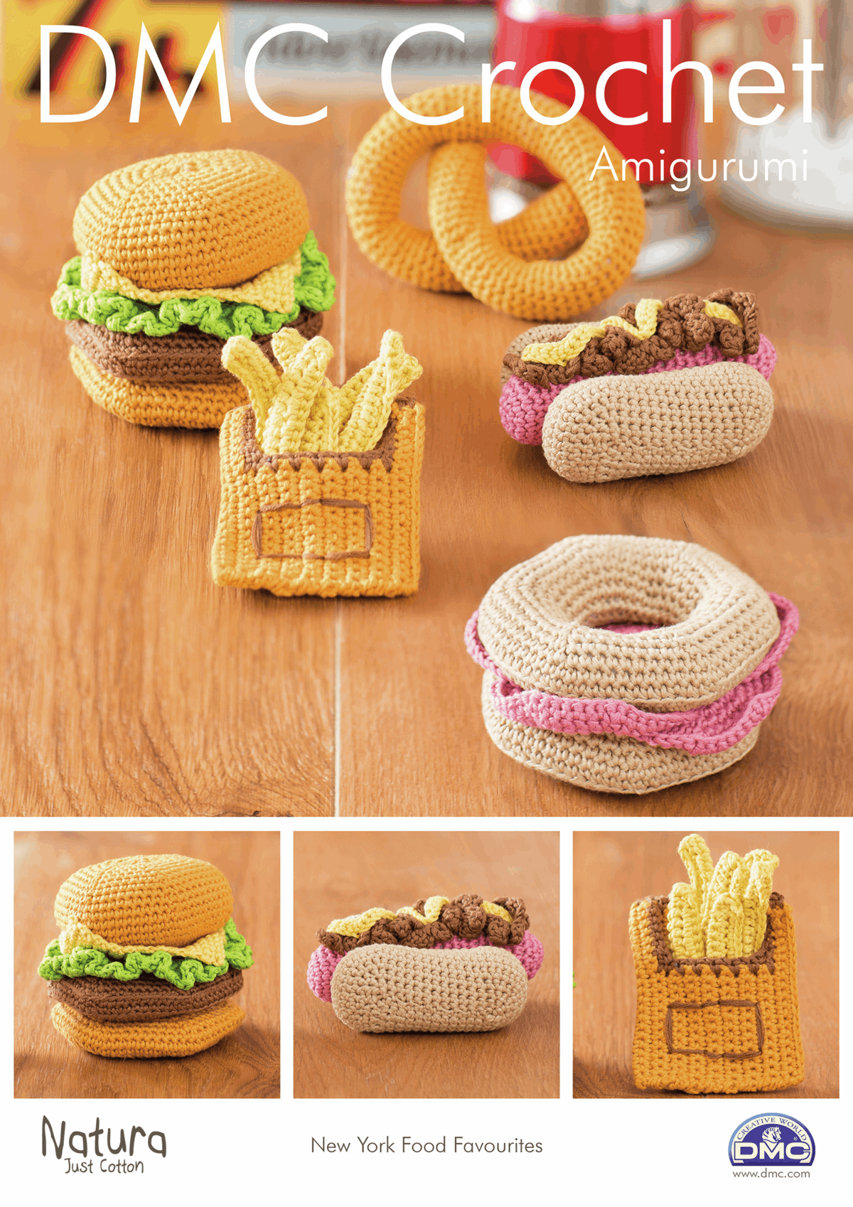 Picture of DMC Crochet Pattern: New York Food Favourites