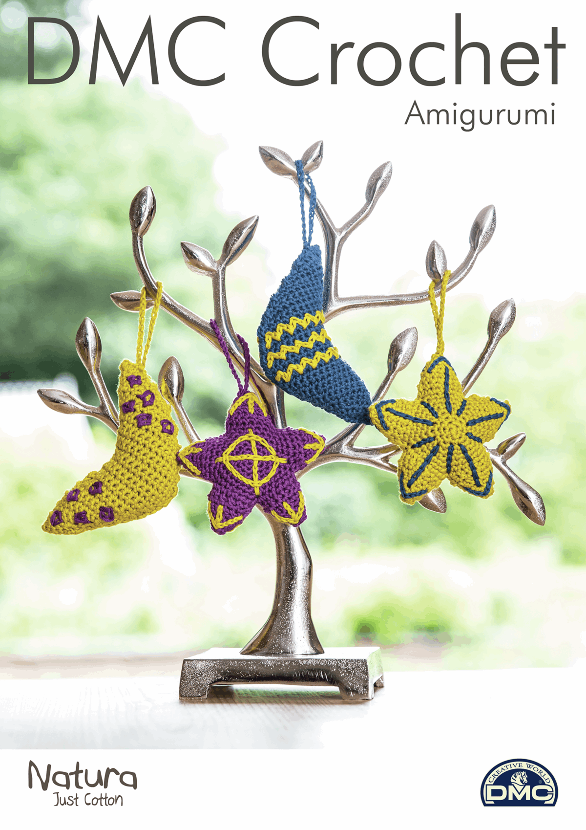 Picture of DMC Crochet Pattern: Moon and Stars Decorations