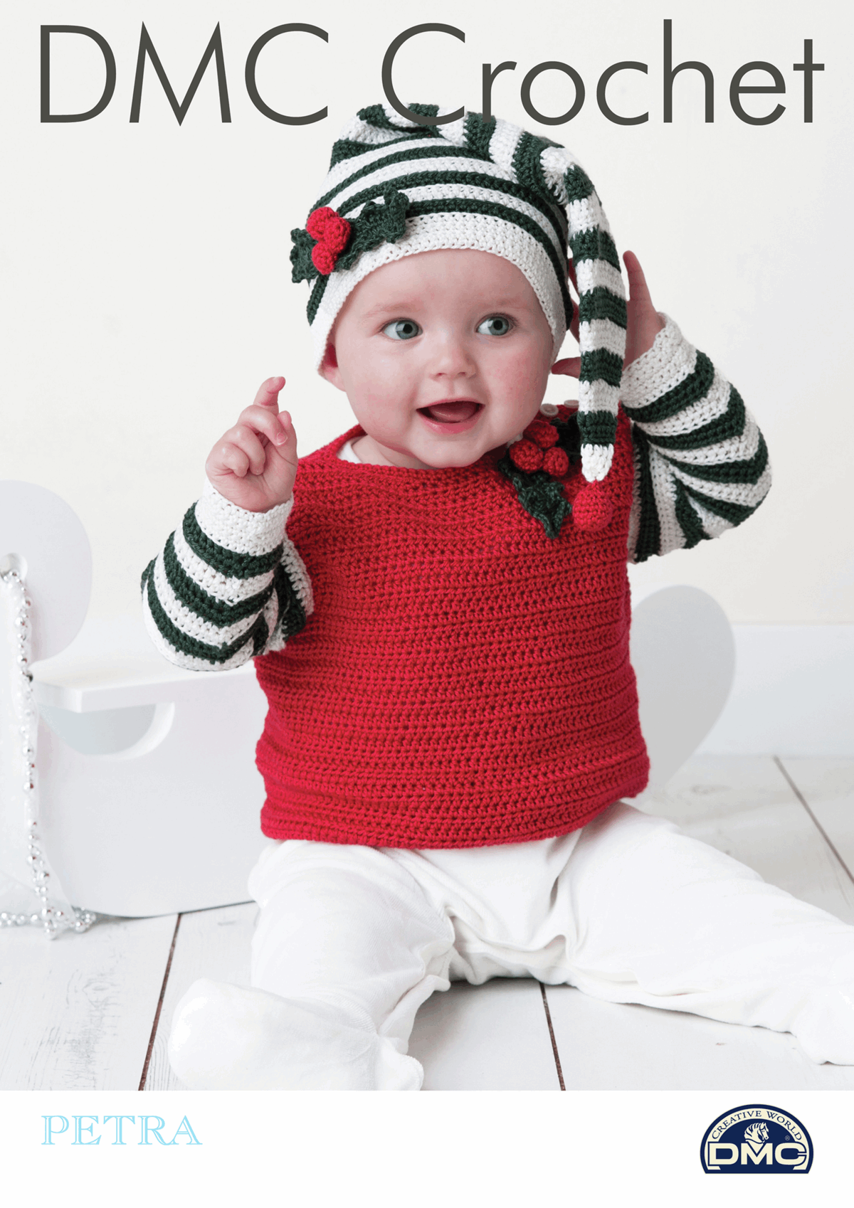 Picture of DMC Crochet Pattern: Baby Jumper with Ha