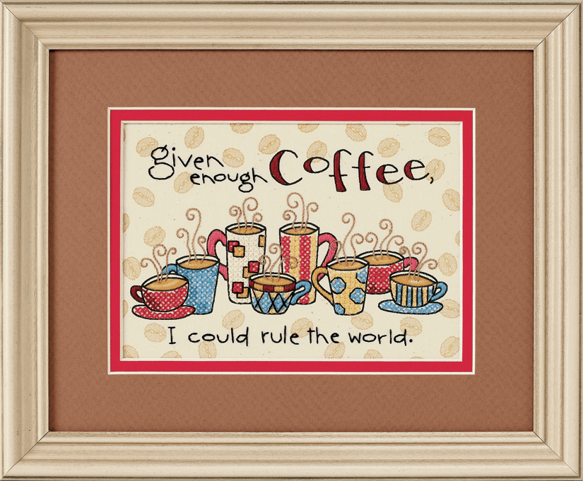 Picture of Mini Stamped Cross Stitch: Enough Coffee