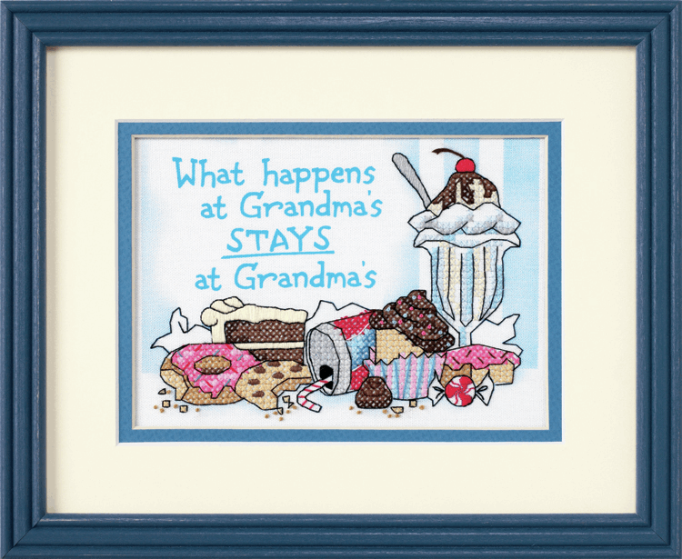 Picture of Mini Stamped X Stitch: What Happens at Grandma's
