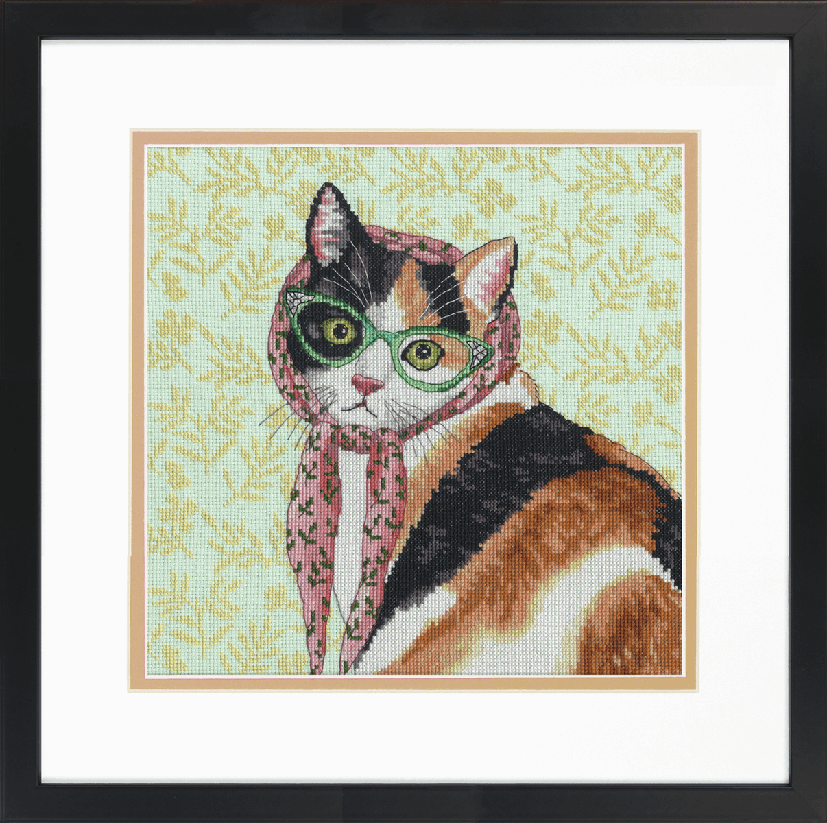 Picture of Counted Cross Stitch Kit: Mama Cat