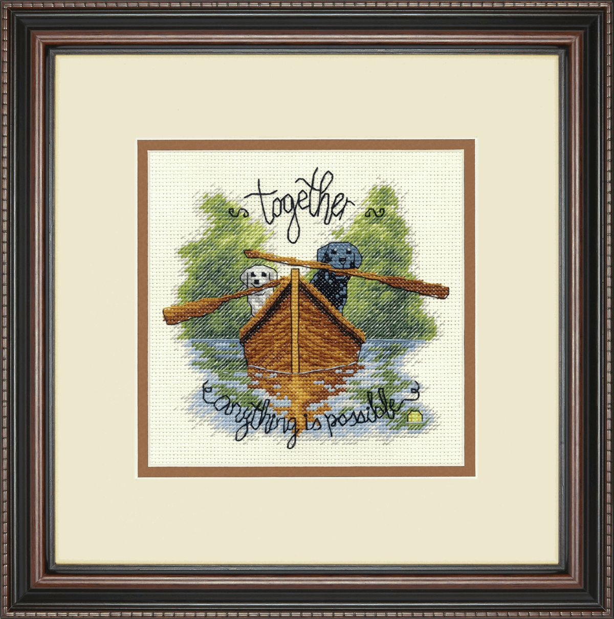 Picture of Counted Cross Stitch Kit: Together Dogs