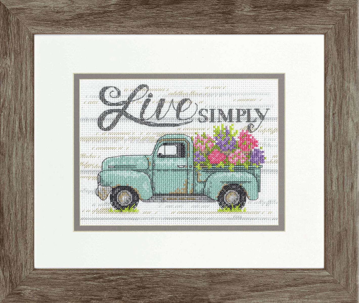 Picture of Counted Cross Stitch Kit: Flower Truck