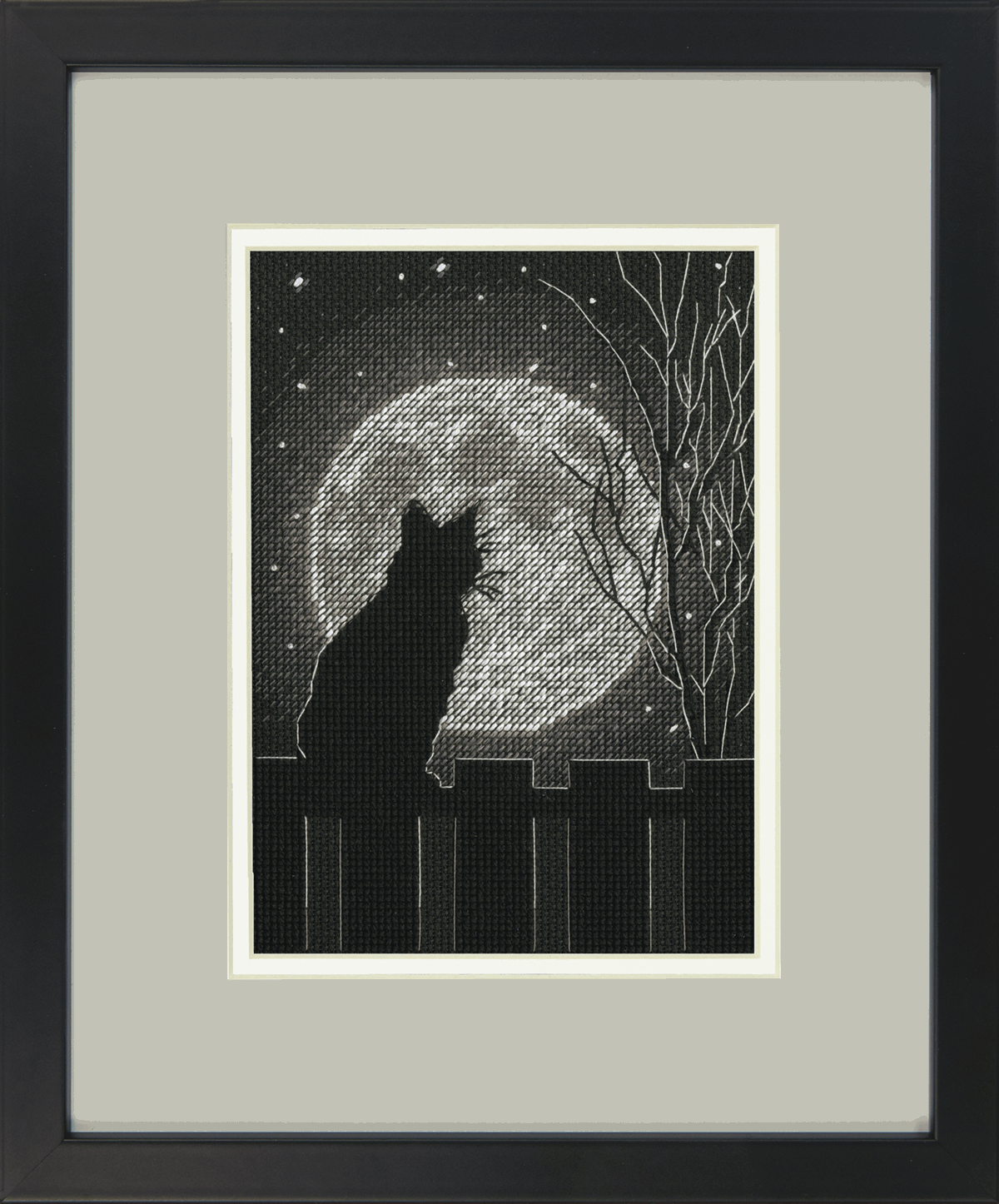 Picture of Counted Cross Stitch Kit: Black Moon Cat