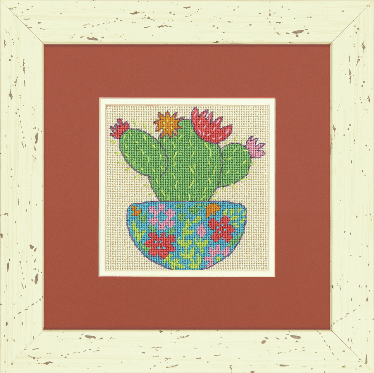 Picture of Needlepoint Kit: Happy Cactus