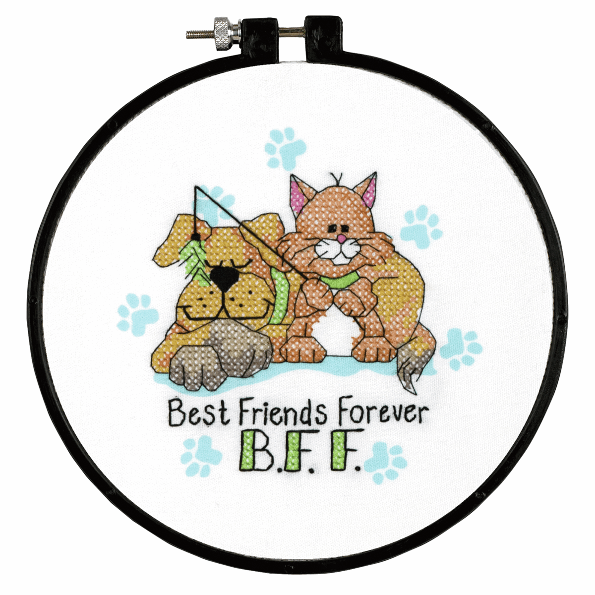 Picture of Learn-a-Craft: Stamped X Stitch: Best Friends